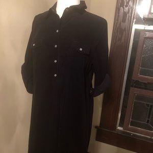 Old Navy black corduroy dress
